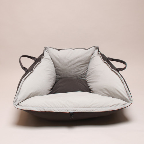 In&Out cushion _gray&charcoal